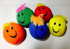 Exploding stress balls are nothing to smile at